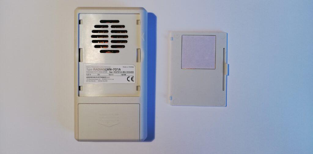 Radiascan 701A - tył